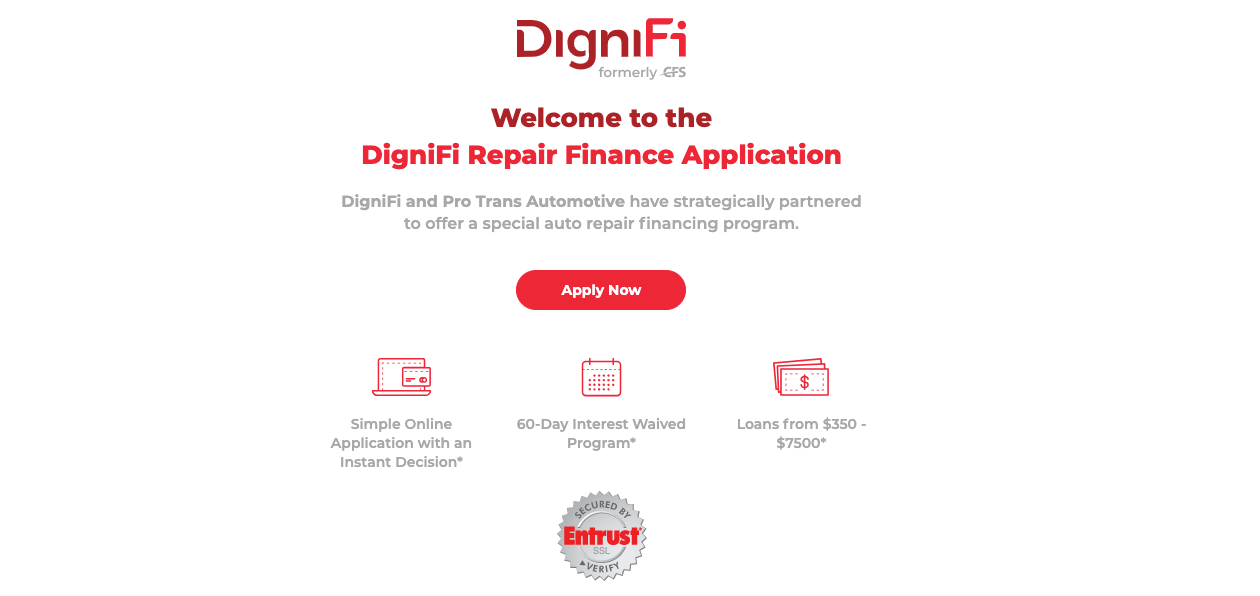 DigniFi Finance Repair